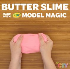 Create colorful butter slime with Crayola Model Magic and School Glue!