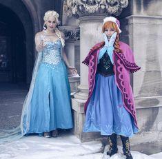 Anna and Elsa Cosplay (Frozen) by Lisa-Lou-Who.deviantart.com on @deviantART