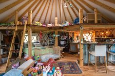 May ABODE: Needing extra space, local families discover the yurt - C-VILLE Weekly Yurt Interior, Interior Design Kitchen, Interior Doors, Interior Architecture, Interior Decorating, Yurt Living, Tiny Living, Yurt Loft, Yurt Kits