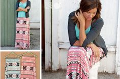 Is it Hot in Here or is it Just You? Tribal Maxi Skirts #maxiskirts pickyourplum.com