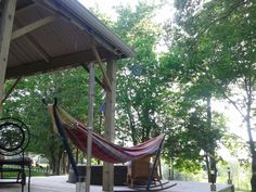 That looks inviting Outdoor Furniture, Outdoor Decor, Hammock, Home Decor, Homemade Home Decor, Hammocks, Decoration Home, Yard Furniture, Interior Decorating