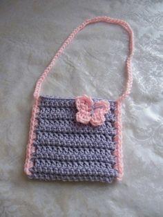 Crochet Purse Patterns, Crochet Tote, Crochet Handbags, Crochet Purses, Hand Crochet, Crochet Baby, Crochet Girls, Crochet For Kids, Crochet Dresses