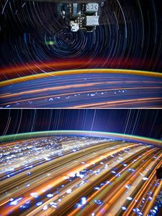 Surreal long-exposure space photos by International Space Station by Expedition 31 Flight Engineer Don Pettit.