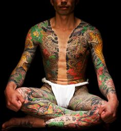 Yoshihito Nakano - an example of the exquisite work (particularly with color) that traditional yakuza artists do