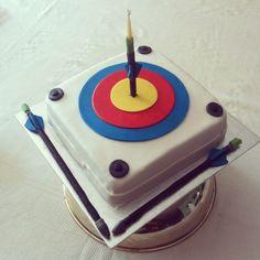 Archery themed birthday cake