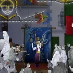 Moros i Cristians Carousel, Fair Grounds, Painting, Travel, Art, Museum, Party, Pintura, Voyage