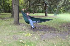 One Tree Hammock Setup with Paracord - Paracord Planet Prusik Knot, Pully System, Tent Stakes, Two Trees, Single Tree, One Tree, Paracord, Hammock