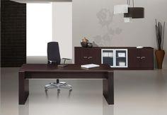 Mesa de despacho de diseño  Madera melamínica anti-rayaduras de mobiofic.com