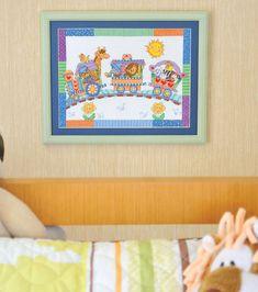 Tela de ponto-cruz com tema infantil. Decore e anime! / DIY, Craft, Upcycle