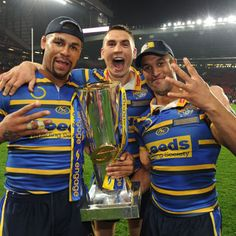 Three in a row for the Rhinos at Old Trafford in 2009 Leeds Rhinos, Rugby League, Old Trafford, The Row, Fitness, Sports, Hs Sports, Sport