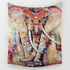 Beach Throw Tapestry | Indian Elephant - 6 designs