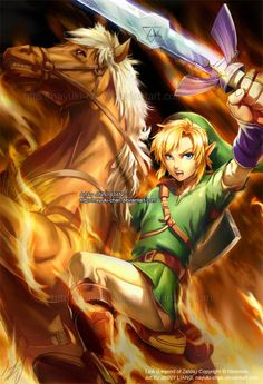 Link, Epona, and the blade of evils bane