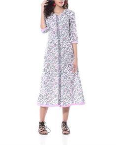 Floral Hand Printed Shirt Dress I Shop at : http://www.thesecretlabel.com/designer/pa-ar