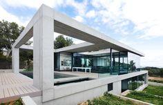 Superbe villa contemporaine largement ouverte sur l'extérieur sur l'île de Majorque,  #construiretendance