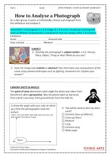 Arty Crafty Studio: Art Worksheets
