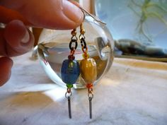 Fun #etsyearrings #handmadejewelry #earringshop #earringsoftheday #gypsyjewelry #dangledrop #charms #etsylover #etsyshop #cherokeedancing by cherokeedancing. Explore more products on http://cherokeedancing.etsy.com