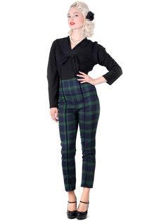 Bonnie Blackwatch Cigarette Trousers 0