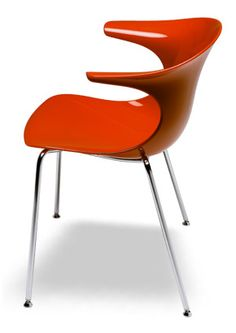 """""""Loop See Modern Dining Chair"""" Made of technoplastic material in a range of colors. Stackable 4 high.  Please contact us for pricing (718)363-3097."""