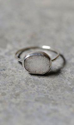 Melissa Joy Manning Labradorite Slice Ring