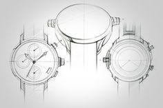 wrist watch design - sketches & renders      Digital Art Industrial Design Product Design