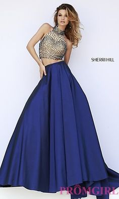 Prom Dresses, Celebrity Dresses, Sexy Evening Gowns - PromGirl: Sherri Hill Two Piece Prom Dress