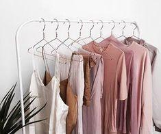 blush closet rack