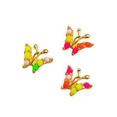 ซื้อ ขาย สินค้าที่ถูกพูดถึงมากที่สุด ราคาถูก Bluelans 10x 3D Butterfly Nail Art Stickers Alloy DIY Phone Decoration Colorful คุณภาพดี ซื้อออนไลน์ได้ พร้อมส่งทันที