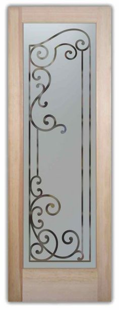 Etched Glass Pantry Doors