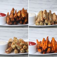 Veggie Wedges 4 Ways - Vegetable Recipes Vegetable Recipes, Vegetarian Recipes, Cooking Recipes, Healthy Recipes, Vegan Meals, Diet Recipes, Vegetable Snacks, Top Recipes, Vegan Recipes