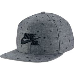 Nike Chambray Phillips Pro Snapback Hat ($30) ❤ liked on Polyvore featuring accessories, hats, nike, nike hats, snap back hats, nike snapback and adjustable hats