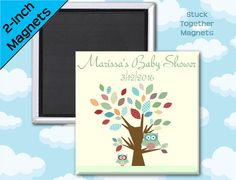 Baby Shower Favors  Owls in a Patchwork by StuckTogetherMagnets