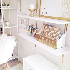 : @jazmineirenedesigns | How cute is this setup?! Whether you love very crisp and clean decor or like to through splashes of color around you'll love what #jazmineirenedesigns has to offer. If you're like us you love to design each room of your home in separate themes. We could definitely see ourselves using this theme for an in-home office (no pets kids or significant others allowed!). #blackbox #blackowned #blackmade #supportblackbusiness #blackwomen #blackhomes #blackgirlmagic…