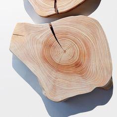 Round Cedar Wood Cutting Board by Cliff Spencer