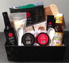 Sushi Lovers Gift Basket - http://mygourmetgifts.com/sushi-lovers-gift-basket/