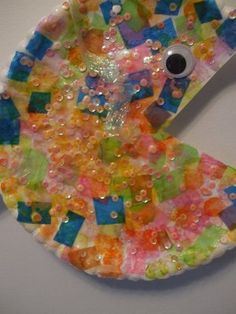 Fun Fish craft project with sequins