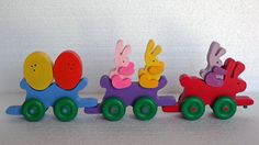 Funny Bunny Choo Choo Easter Train Easter Toys by PawPawsWorkshop