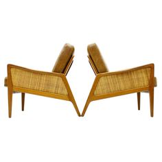 A pair Early Lounge Chairs by Peter Hvidt & Orla Molgaard Nielsen, FD 151 ca.1950's