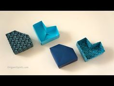 Easy Paper Box -It's a Heart and a Diamond! | Leyla Torres - Origami Spirit