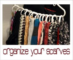 Organize your scarves