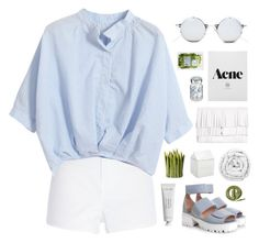 """""""Blue Skies."""" by banayana ❤ liked on Polyvore featuring Chicnova Fashion, River Island, Jeffrey Campbell, Forever 21, Normann Copenhagen, Proenza Schouler, Vita, Byredo, Brinkhaus and Urbanears"""