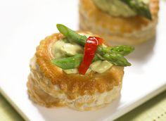Guacamole and Asparagus Filled Vol-au-Vents