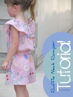 Easy Ruffled Romper tutorial from Sew Very