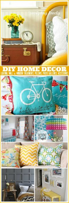 DIY Home Decor Ideas - Brighten up your home with exciting color and palettes, accessories to fresh flowers and paint.