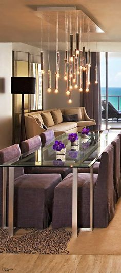 Dining Room Design , modern dining table. #moderndesign #interiordesign #diningroomdesign luxury homes, modern interior design, interior design inspiration . Visitwww.memoir.pt