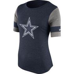 Women's Nike Navy Dallas Cowboys Stadium Fan T-Shirt