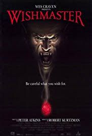 Robert Kurtzman's Wishmaster Is One Extremely Gory And Gruesome Movie. Some Very Big Horror Icons Also Make Appearances In Wishmaster Like Robert Englund, Kane Hodder And Andrew… Horror Movie Posters, Best Movie Posters, Best Horror Movies, Classic Horror Movies, Good Movies, Cinema Posters, Robert Englund, Best Horrors, Halloween Movies