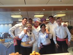 Rufus and his team aboard Viking Cruises