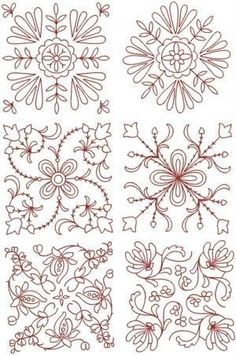 Advanced #Embroidery Designs - Quilt Block Set by lillie