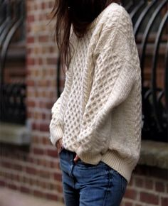 Jeans and knit