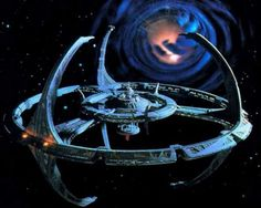 Star Trek: Deep Space Nine... The Space Station near the worm hole.  Oh, i`ve dreamed of being on that station....